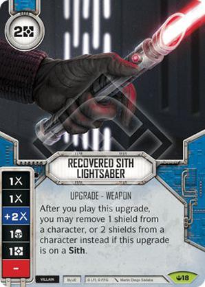 Sabre laser Sith rétabli